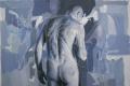 Constantin Migliorini, Uomo, olio e acrilico su tela, cm. 130x150