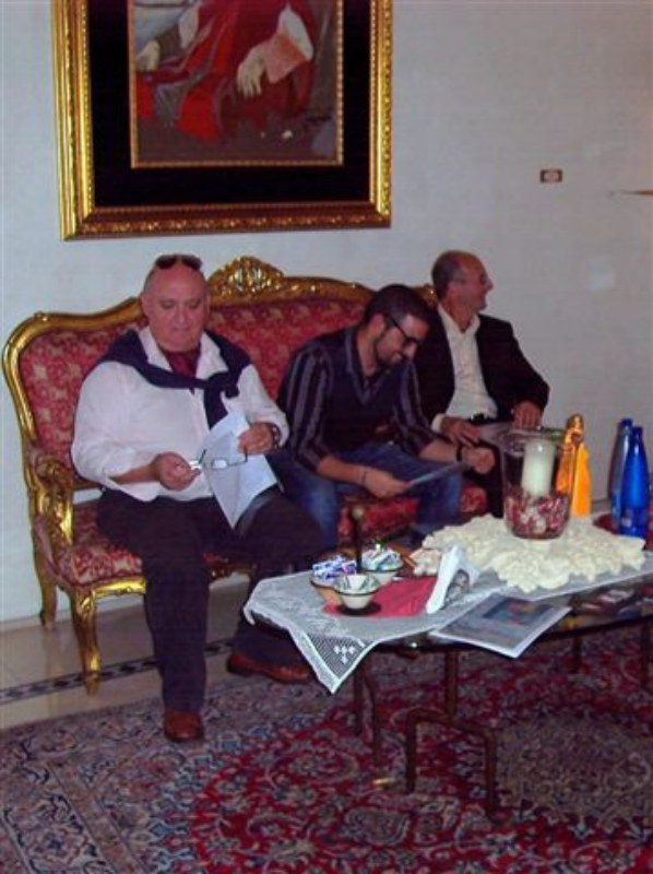 Lorenzo Polimeno, Carmelo Cipriani e Raffaele Gemma, Palazzo Baldi, Galatina (LE)