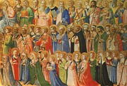 Beato Angelico, The Forerunners of Christ with Saints and Martyrs, about 1423-24, tempera on wood, cm. 31,9x63,5, National Gallery, Londra
