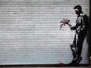 Banksy, hits the hustler club with a new piece of art